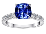 Original Star K™ Solitaire Ring with Cushion Cut Created Sapphire style: 310626