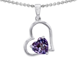 Star K™ 7mm Heart Shape Simulated Alexandrite Pendant Necklace style: 310763