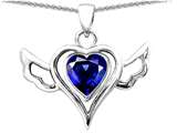 Star K™ Wings Of Love Pendant Necklace with Created Heart Sapphire style: 310770