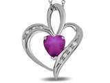 Star K™ Heart Shape 6mm Created Star Ruby Pendant Necklace style: 311148