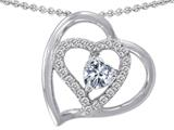 Star K™ Heart Shape 6mm White Topaz Heart Pendant Necklace style: 311166