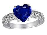 Star K™ 8mm Heart Shape Created Sapphire Ring style: 311223