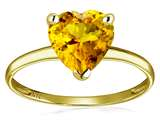 Original Star K™ Genuine Citrine Heart Shape 8mm Solitaire Engagement Ring style: 312500