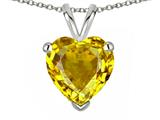 Star K ™ 8mm Heart Genuine Citrine Pendant Necklace style: 314640