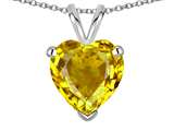 Star K ™ Genuine Citrine 8mm Heart Pendant Necklace style: 314662