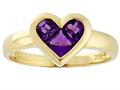 Tommaso Design™ Invisible Set Amethyst Ring