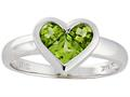 Tommaso Design™ Genuine Invisible Set Peridot Ring