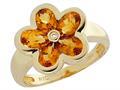 Tommaso Design™ Genuine Citrine Ring