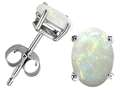 Tommaso Design™ Oval 7x5 mm Genuine Opal Earrings