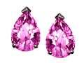 Tommaso Design™ Pear Shape 8x6mm Created Pink Sapphire Earrings Studs