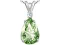 Tommaso Design™ Green Amethyst Pendant Necklace