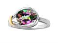 Genuine Pear Shape Mystic Topaz Ring