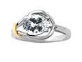 Genuine Pear Shape White Topaz Ring