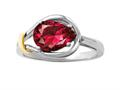 Created Pear Shape Ruby Ring