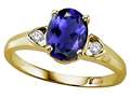 Tommaso Design™ Oval 8x6 mm Genuine Iolite Ring