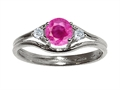 Tommaso Design™ Genuine Pink Sapphire Ring