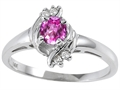 Tommaso Design™ Genuine Pink Tourmaline Ring