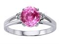 Tommaso Design™ Simulatd Pink Topaz Ring