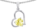 Star K™ 7mm Heart Shape Lemon Quartz Pendant Necklace