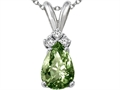 Tommaso Design™ Green Sapphire Pendant Necklace