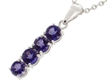 Tommaso Design™ 1inch long Genuine Iolite Straight Journey Pendant