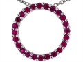 Tommaso Design(tm) 19mm. Circle Of Love Pendant Necklace made with Genuine Quality Ruby