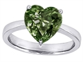 Original Star K™ Large 10mm Heart Shape Solitaire Engagement Ring with Simulated Green Sapphire