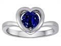 Original Star K™ Heart Engagement Promise of Love Ring with 7mm Round Created Sapphire