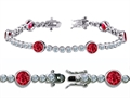 Star K™ High End Tennis Bracelet With 6pcs 6mm Round Created Ruby