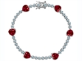 Original Star K™ Classic Heart Shape 7mm Created Ruby Tennis Bracelet