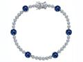 Original Star K™ Classic Round 6mm Created Sapphire Tennis Bracelet