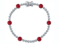 Star K™ Classic Round 6mm Created Ruby Tennis Bracelet