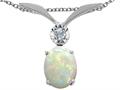 Tommaso Design™ Oval 8x6mm Genuine Opal Pendant