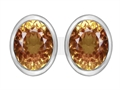 Star K™ 8x6mm Oval Simulated Imperial Yellow Topaz Earrings Studs