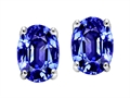 Tommaso Design™ Simulated Tanzanite Oval 8x6mm Earrings Studs