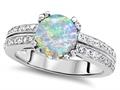Original Star K™ Round 7mm Simulated Opal Wedding Ring