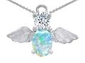 White Created Opal