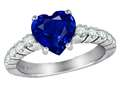 Star K™ 8mm Heart Shape Created Sapphire Ring