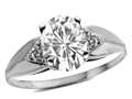 Star K ™ Oval 9x7 Genuine White Topaz trillion miracle setting wide band Ring
