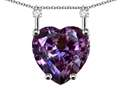 Star K™ Heart Shape 8mm Simulated Alexandrite Stackable Mothers Pendant