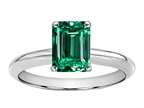 Tommaso Design Octagon Cut 8x6mm Simulated Emerald Ring Style number: 300820