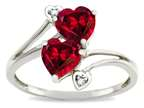 Tommaso Design Heart Shape 6 mm Created Ruby Ring Style number: 301338