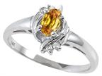 Tommaso Design Genuine Citrine Ring Style number: 301712