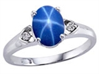 Tommaso Design Created Star Sapphire and Genuine Diamond Ring Style number: 303838