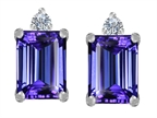 Star K 8x6mm Emerald Octagon Cut Simulated Tanzanite Earrings Studs Style number: 307178