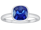 Tommaso Design 7mm Cushion Cut Created Sapphire Engagement Solitaire Ring Style number: 307908