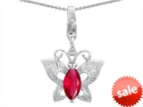 Original Star K™ Butterfly Pendant Made with Created Ruby style: 303213