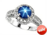 Star K™ 7mm Round Created Star Sapphire Ring style: 308543