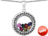 Star K™ Family Circle Mothers Mom Locket Necklace pendant with 12 Simulated-Simulated Birth Months Included style: 309799