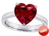 Original Star K™ Large 10mm Heart Shape Solitaire Ring with Created Ruby style: 309880